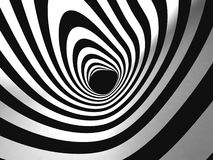 Black and White Stripes Projection on Torus. Royalty Free Stock Photography