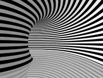 Black and White Stripes Projection on Torus. Stock Image