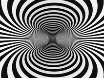 Black and White Stripes Projection on Torus. Royalty Free Stock Image