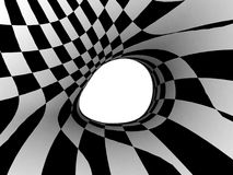 Black and White Stripes Projection on Torus. Royalty Free Stock Images