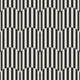 Black and white stripes seamless pattern. Vector wavy lines texture stock illustration