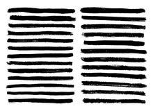 Black and white stripes set isolated on white background vector.  stock illustration