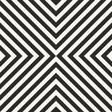 Black and white stripes vector seamless pattern. Crossing diagonal lines. stock illustration