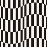 Black and white stripes vector seamless pattern. Vertical lines, wavy shapes. Black and white stripes vector seamless pattern. Simple texture with vertical royalty free illustration