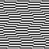 Black and white stripes vector seamless pattern. Wavy shapes. Black and white stripes vector seamless pattern. Simple texture with horizontal striped lines Royalty Free Stock Images