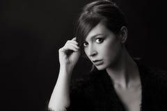 Black and white studio portrait Royalty Free Stock Photo