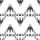 Black and white style diamonds background. Geometric seamless pattern with diamonds. Eps 10 Vector Illustration