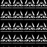 Black and white style diamonds background. Geometric seamless pattern with diamonds. Eps 10 Royalty Free Illustration