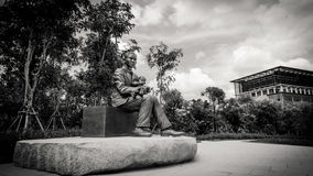 Black and white style of Monument of Prince Mahidol Adulyadej at Mahidol University , Thailand Royalty Free Stock Photos