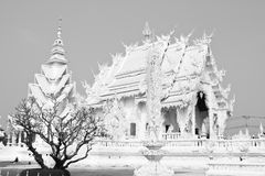 Black and white style temple Royalty Free Stock Image