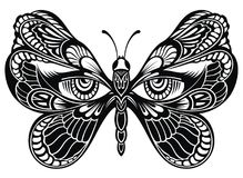 Butterfly wings with human eyes.Tattoo art