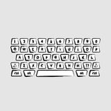 Stylized keyboard. Black - white stylized PC keyboard Royalty Free Stock Photo