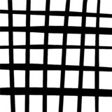 Black and white stylized plaid cell background. Abstract geometric gingham pattern royalty free illustration