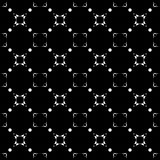 Black & white subtle background, square geometric seamless patte Royalty Free Stock Images