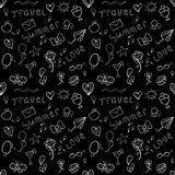 Black and white summer seamless pattern Royalty Free Stock Photography