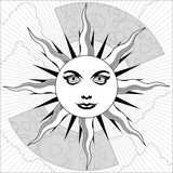 Black and white sun Royalty Free Stock Photography