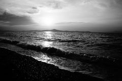 Black and white sun set Stock Photography