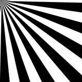 Black and White Sun Sunburst Pattern. Black and White Sun Rays, Beams Element, Sunburst Pattern, Starburst Shape on White Background. Radiating, Radial, Merging Royalty Free Stock Photo
