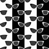 Black-and-white sunglasses royalty free illustration