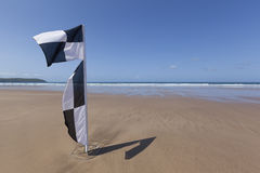 Black and White Surf Zone flag Stock Photo