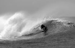 Black and White Surfing Stock Photo