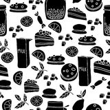 Black and white sweets Royalty Free Stock Photos