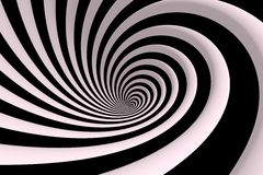 Black and white swirl Stock Photography