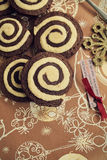 Swirl Cookies Stock Photos