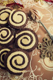 Swirl Cookies Royalty Free Stock Photos