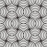 Black & white swirling design Stock Images