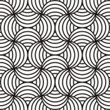 Black & white swirling design Stock Images