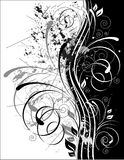 Black White Swirls and Grunge Stock Photo