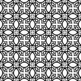 Black and White Swirls seamless pattern Stock Image