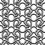 Black and white swirly pattern Royalty Free Stock Photo