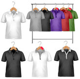 Black and white t-shirt design template. Royalty Free Stock Image