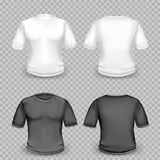 Black and white t-shirt template Stock Photos