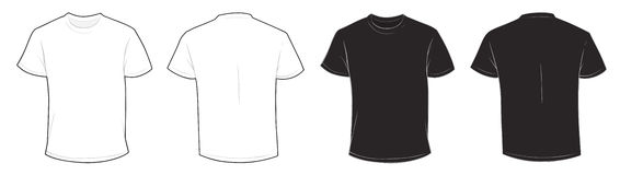 Black and White T-Shirt Template Stock Photo