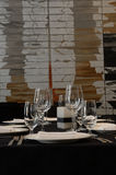Black and white table setting Royalty Free Stock Photography