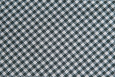 Black and white tablecloth background , plaid fabric Stock Images