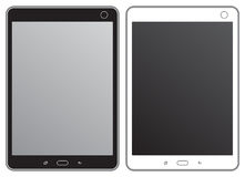 Black and white tablet. Set of black and white tablet Royalty Free Illustration