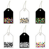 Black and white tags Royalty Free Stock Photography