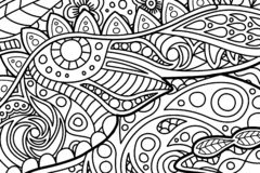 Black and white tangle pattern for coloring book stock images