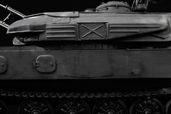 Black and white tank profile photo. stock photography