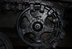 Black and white tank wheel profile photo. Royalty Free Stock Photography