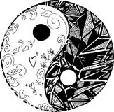 Coloring TAO symbol mandala Royalty Free Stock Photo