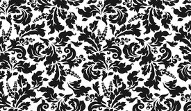 Black and white tapestry with flowers Royalty Free Stock Photos