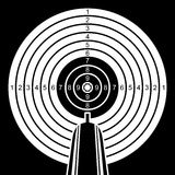 Black and white target. Royalty Free Stock Images