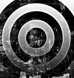 Black and white target Royalty Free Stock Image