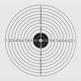 Black and white target. With numbers for shooting Royalty Free Stock Photos
