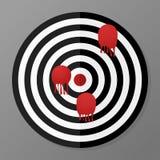 Black and white target in flat design. Shot stock illustration
